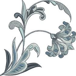 Blue Fleur De Lis Flower embroidery design