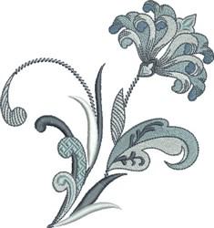 Flowing Fleur De Lis Flower embroidery design