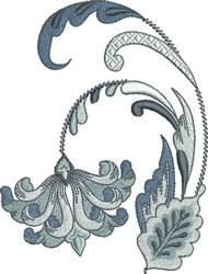 Royalty Fleur De Lis Floral embroidery design