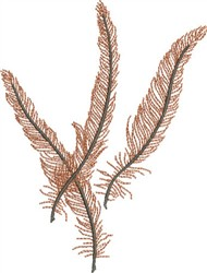 Swirling Feathers embroidery design