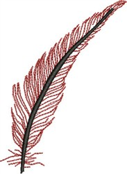 Elegant Feather embroidery design