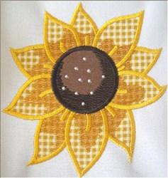 Fall Sunflower Applique embroidery design
