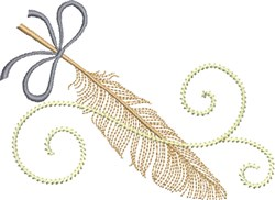 Fine Feather embroidery design