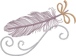 Delicate Feather embroidery design