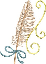 Quill Feather embroidery design