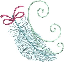 Feather in the Wind embroidery design