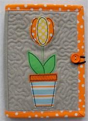 Folded E-reader Cover 5 embroidery design