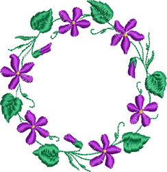 Violet Wreath embroidery design