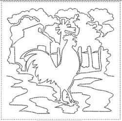 ITH Farm Life 1 Quilt Block embroidery design