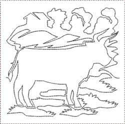 ITH Farm Life 11 Quilt Block embroidery design