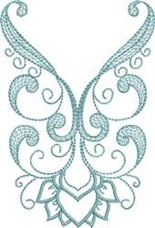Scrolled Neckline embroidery design