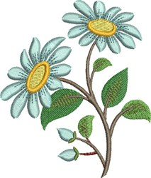 Blue Daisy embroidery design