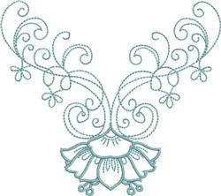 Elegant Neckline embroidery design