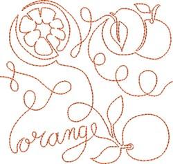 Free Motion Orange embroidery design