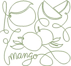Free Motion Mango embroidery design
