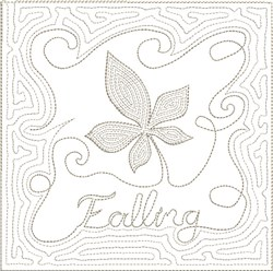 ITH Fall Quilt Block 3 embroidery design