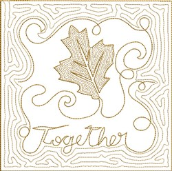 ITH Fall Quilt Block 6 embroidery design
