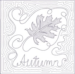 ITH Fall Quilt Block 9 embroidery design