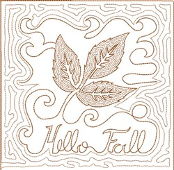 ITH Fall Quilt Block 12 embroidery design