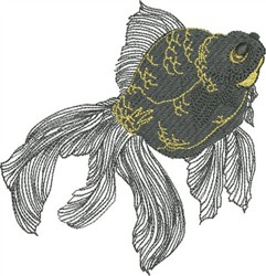 Moor Gold Fish embroidery design