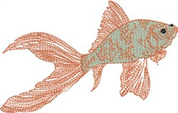 Comet Gold Fish embroidery design