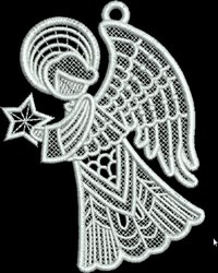 FSL Small Angel with Star embroidery design