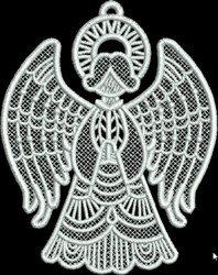 FSL Small Angel Praying embroidery design