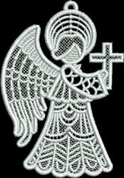 FSL Small Angel Cross Profile embroidery design
