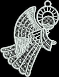 FSL Small Angel with Dots embroidery design