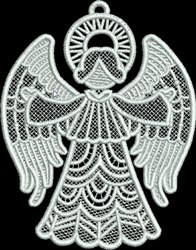 FSL Small Angel with Open Arms embroidery design