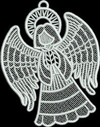 FSL Small Angel  with Folded Hands embroidery design