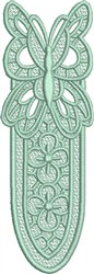 FSL Butterfly Bookmark B embroidery design