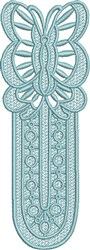 FSL Butterfly Bookmark J embroidery design
