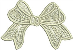 Lace Bow embroidery design