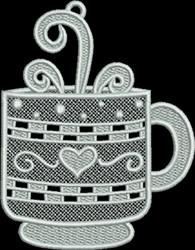 FSL Fancy Coffee Mug embroidery design