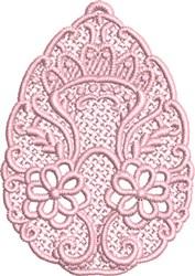FSL Floral Egg embroidery design