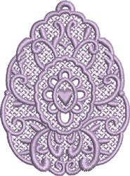 FSL Easter Egg Ornaament embroidery design