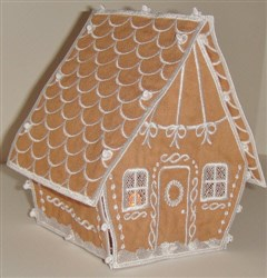 Gingerbread House embroidery design