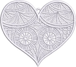 FSL Fancy Heart 2 embroidery design