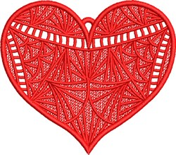FSL Fancy Heart 3 embroidery design