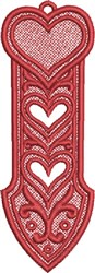 FSL Heart Bookmark 1 embroidery design
