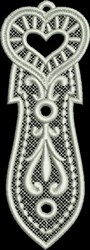 FSL Heart Bookmark 8 embroidery design
