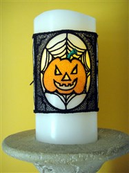FSL Halloween Candle Cover embroidery design