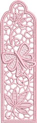 Butterfly FSL Bookmark embroidery design