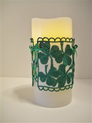 FSL Shamrock Candle Cover embroidery design