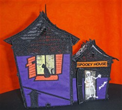 FSL 3D Spooky Haunted House embroidery design