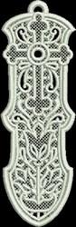 FSL Elegant Cross Bookmark embroidery design