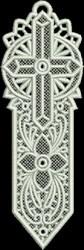 FSL Large Cross Bookmark embroidery design