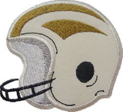 Football Helmet Applique embroidery design