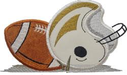 Football & Helmet Applique embroidery design